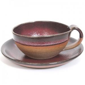 辰砂コーヒーカップ&ソーサー