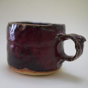 松尾次郎 辰砂コーヒーカップ